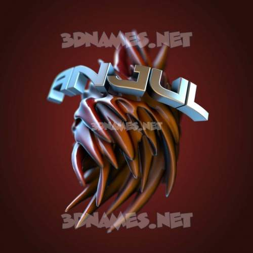Red Twisted 3D Name for anjul