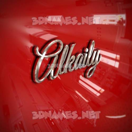 Car Paint 3D Name for alkaily