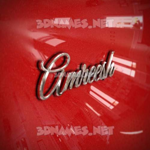 Car Paint 3D Name for amreesh