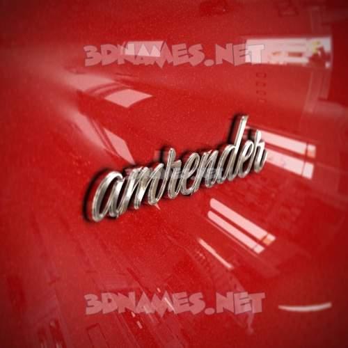 Car Paint 3D Name for amrender