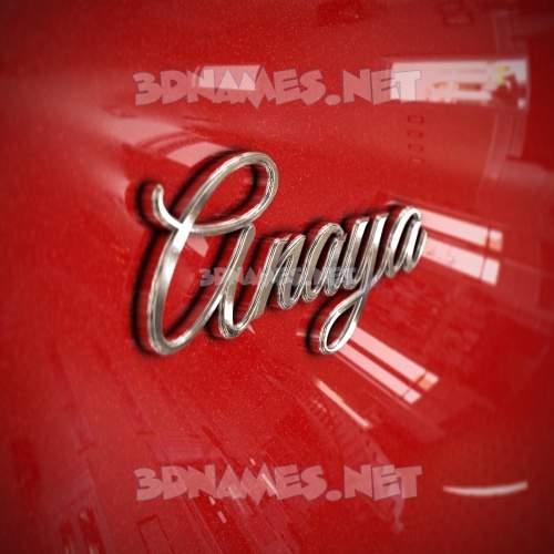 Car Paint 3D Name for anaya