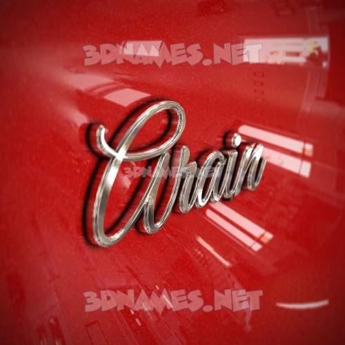 Car Paint 3D Name for arain