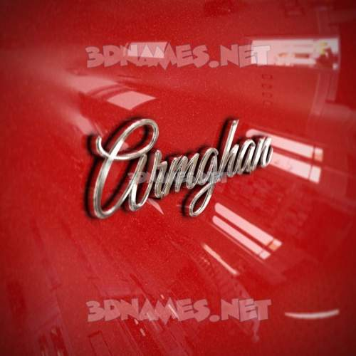 Car Paint 3D Name for armghan