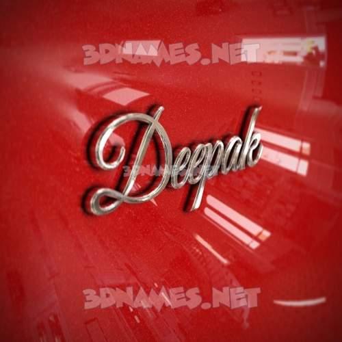 Car Paint 3D Name for deepak