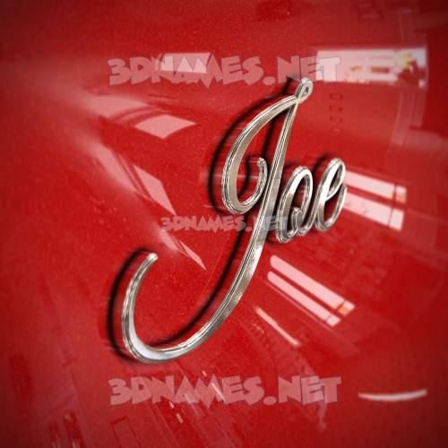 Car Paint 3D Name for joe