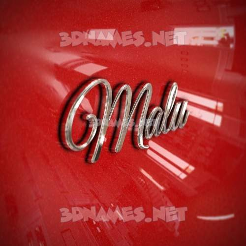 Car Paint 3D Name for malu