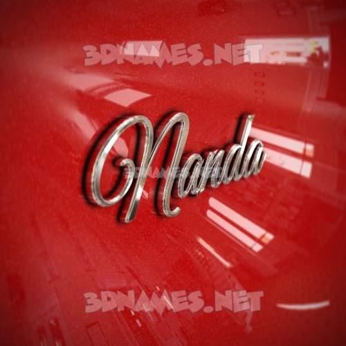 Car Paint 3D Name for nanda