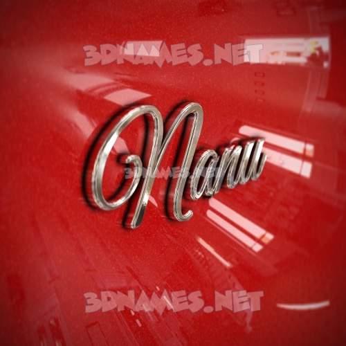 Car Paint 3D Name for nanu
