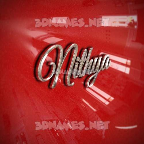 Car Paint 3D Name for nithya