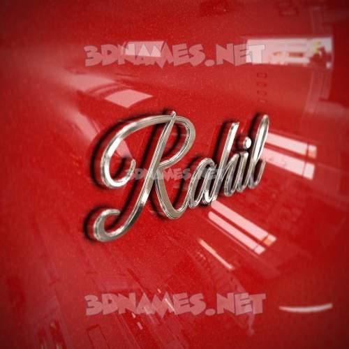 Car Paint 3D Name for rahil