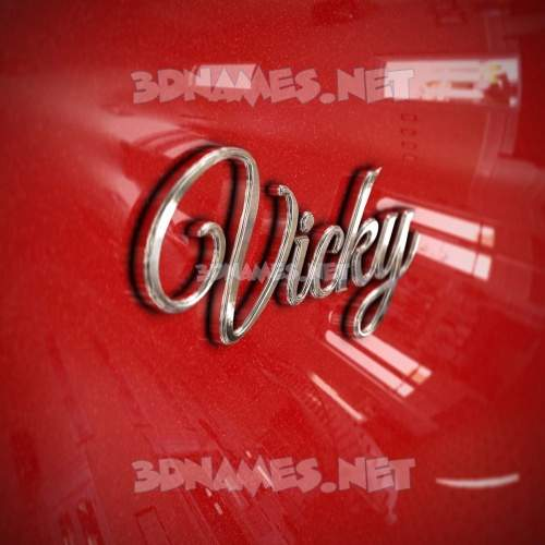 Car Paint 3D Name for vicky