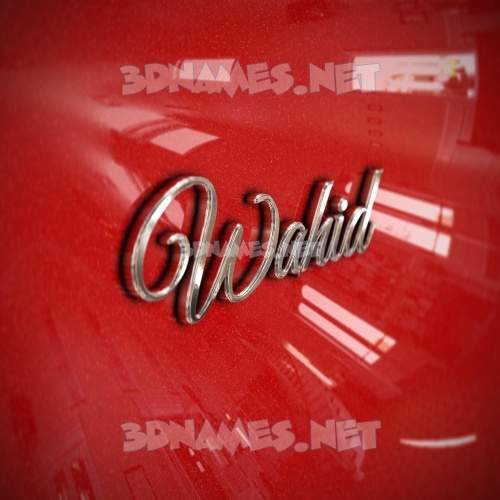 Car Paint 3D Name for wahid