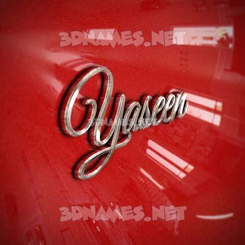 Car Paint 3D Name for yaseen