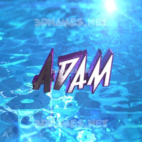 Water 2015 3D Name for adam