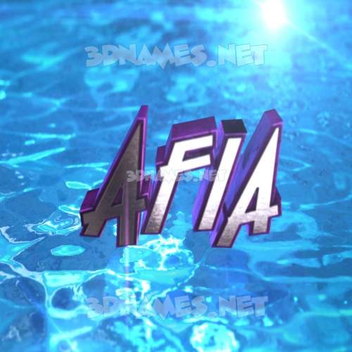 Water 2015 3D Name for afia