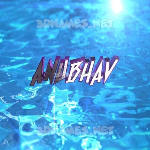 Water 2015 3D Name for anubhav