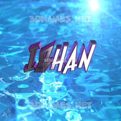 Water 2015 3D Name for ishan