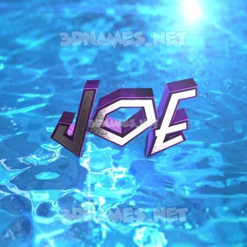 Water 2015 3D Name for joe