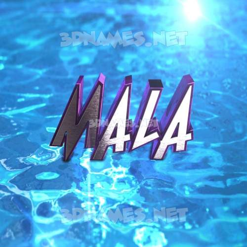 Water 2015 3D Name for mala