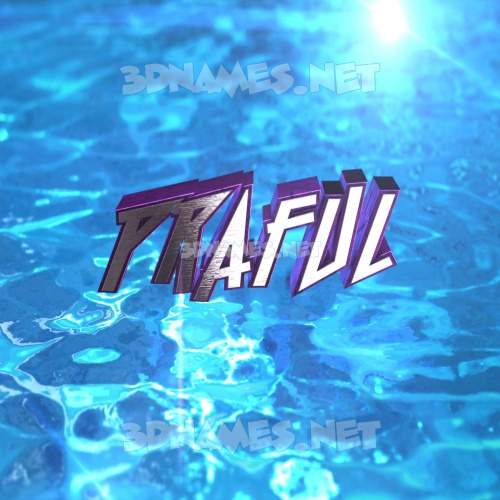 Water 2015 3D Name for praful