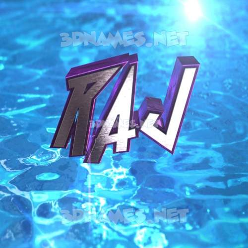 Water 2015 3D Name for raj
