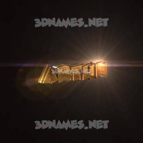 Golden Sparkle 3D Name for artun