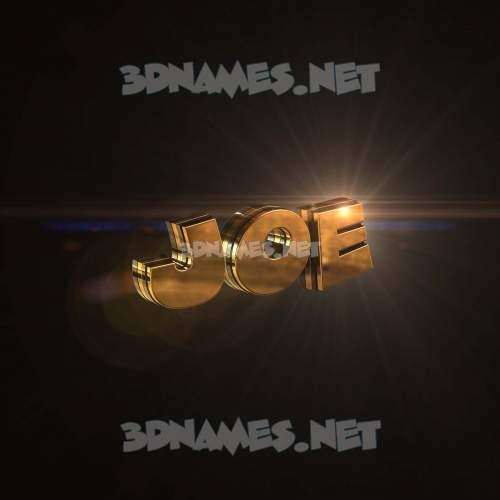 Golden Sparkle 3D Name for joe