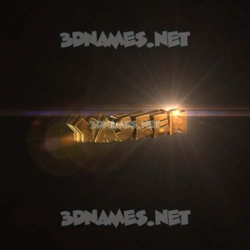 Golden Sparkle 3D Name for yaseen