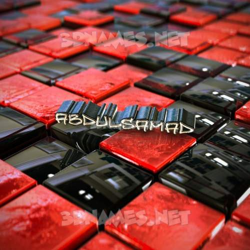 Red Checkered 3D Name for abdulsamad