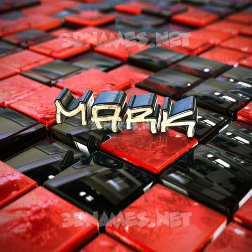Red Checkered 3D Name for mark