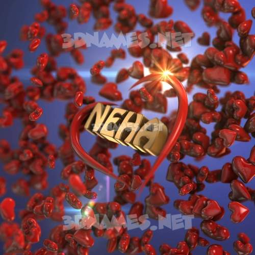 Hearts 3D Name for neha