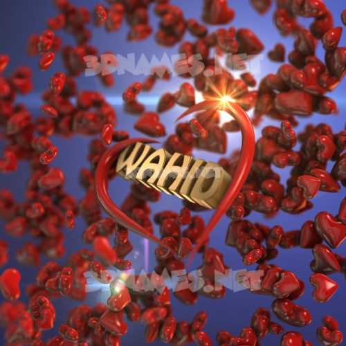 Hearts 3D Name for wahid