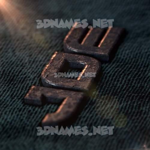 Rusty Metal 3D Name for joe