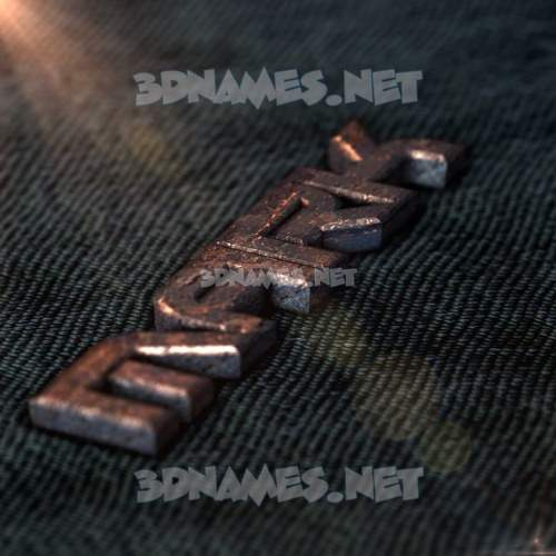 Rusty Metal 3D Name for mark