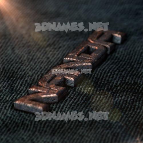 Rusty Metal 3D Name for nanda