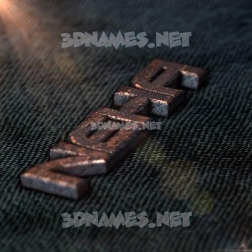 Rusty Metal 3D Name for neha