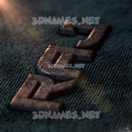 Rusty Metal 3D Name for raj