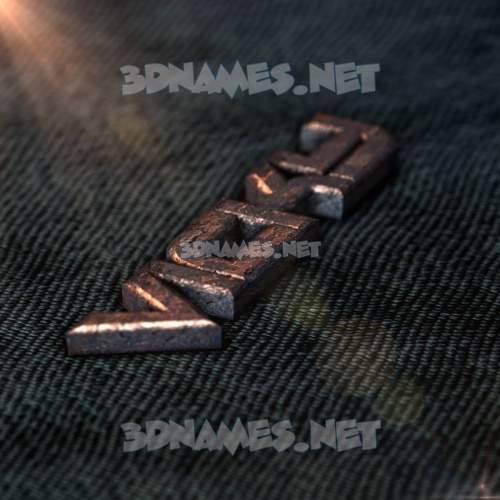 Rusty Metal 3D Name for vicky