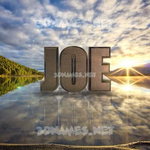 Morning Sunrise 3D Name for joe