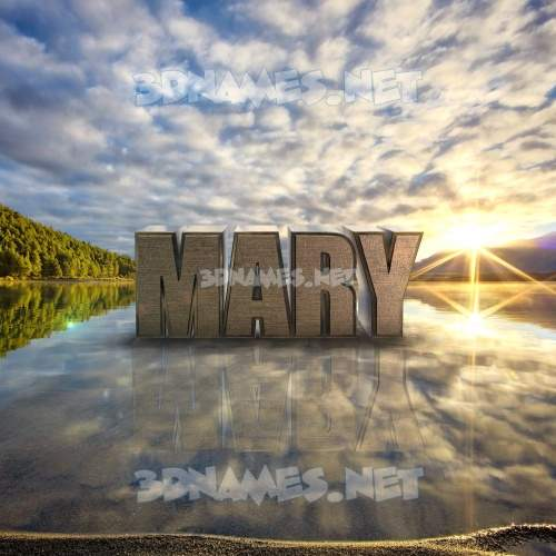 Morning Sunrise 3D Name for mary
