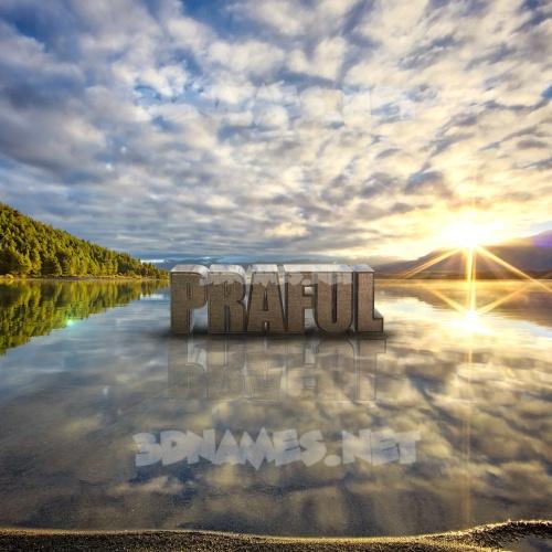 Morning Sunrise 3D Name for praful