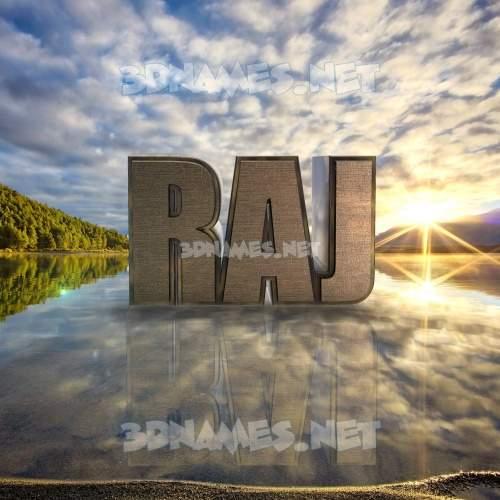 Morning Sunrise 3D Name for raj