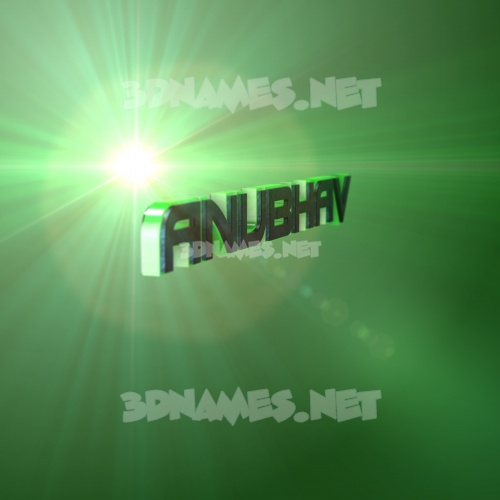 Green Light 3D Name for anubhav