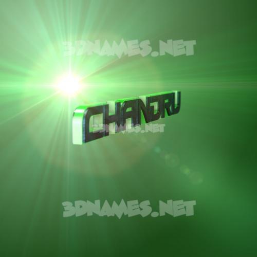 Green Light 3D Name for chandru