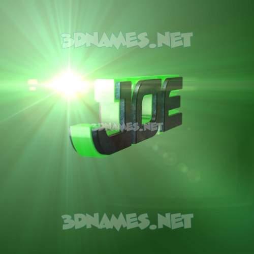 Green Light 3D Name for joe