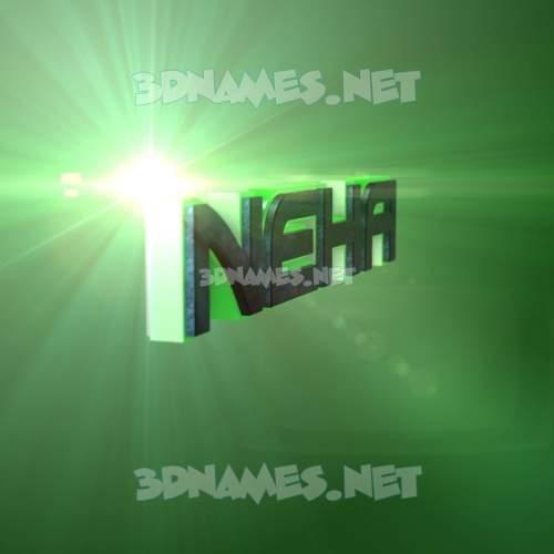 Green Light 3D Name for neha
