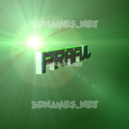 Green Light 3D Name for praful