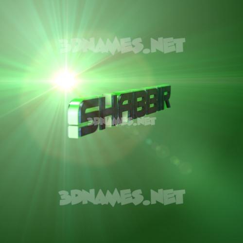 Green Light 3D Name for shabbir