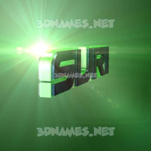 Green Light 3D Name for suri