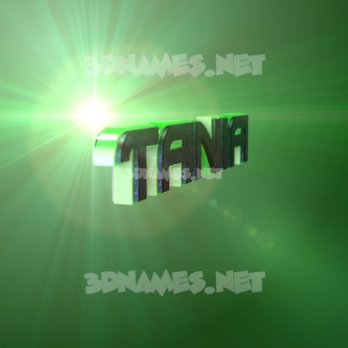 Green Light 3D Name for tania
